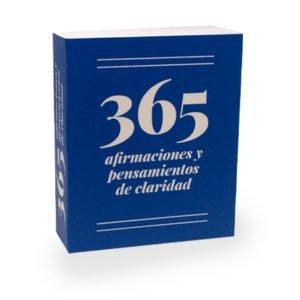 Portada mililibro 365 afirmaciones y pensamientos de claridad